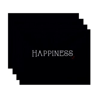 18 x 14-inch Nautical Happiness Word Print Placemat (Set of 4)