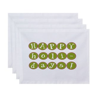 18 x 14-inch Happy HolidaysToo Word Print Placemat (Set of 4)