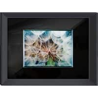 Benjamin Parker 'Dandelion' 24x32 Glass on Glass Tempered Art Glass