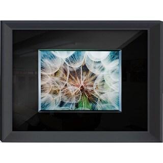 Benjamin Parker 'Dandelion' 24x32 Glass on Glass Tempered Art Glass