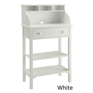 Maison Rouge Antonetta White Wood Office/ Kitchen Storage Desk