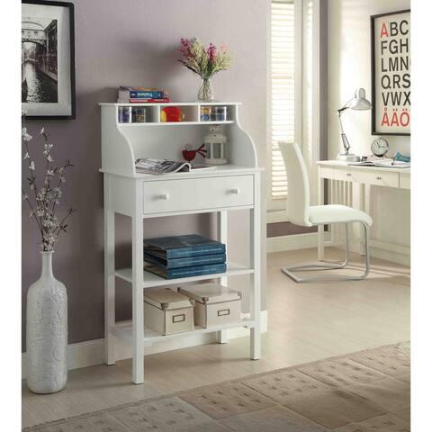 Porch & Den St. Clair White Wood Office/ Kitchen Storage Desk