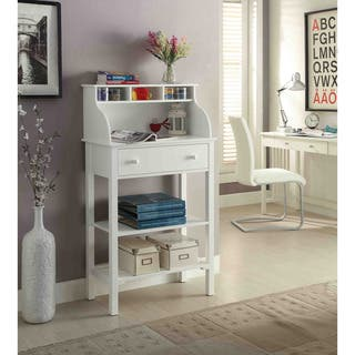 Convenience Concepts Designs2Go White Wood Office/Kitchen Storage Desk|https://ak1.ostkcdn.com/images/products/11916260/P18807563.jpg?impolicy=medium