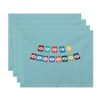 18 x 14-inch Happy Birthday Word Print Placemat (Set of 4)