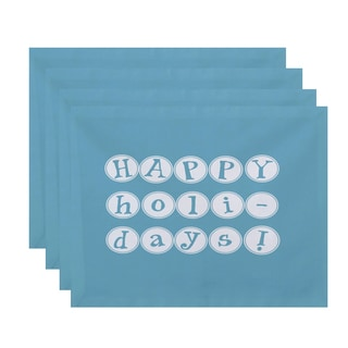 18 x 14-inch Happy Holidays Word Print Placemat (Set of 4)