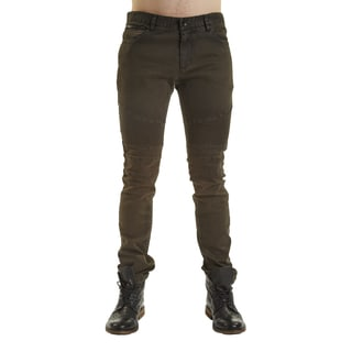 Excelled Men's Moto Green Cotton Jean