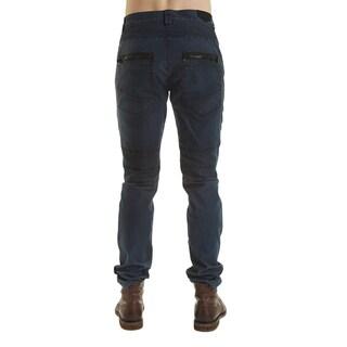 Excelled Men's Peached Cotton Moto Pant