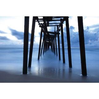 Benjamin Parker 'Under the Pier' Tempered Art Glass