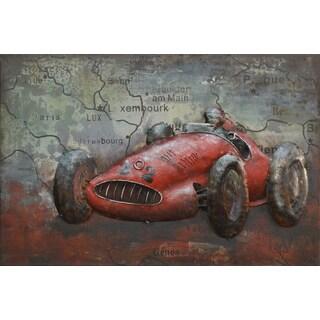 Benjamin Parker 'Racer' 24-inch Metal Wall Art