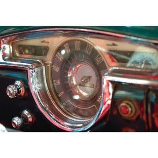 Benjamin Parker 'Speedometer' 20- inch x 30-inch Tempered Art Glass