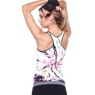 Nikibiki Activewear Women's Twister Tie-dye Racerback Tank