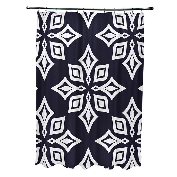71 x 74-inch Beach Star Geometric Print Shower Curtain