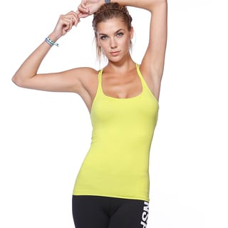 Nikibiki Activewear Women's Black/Yellow Nylon and Spandex Tank Top