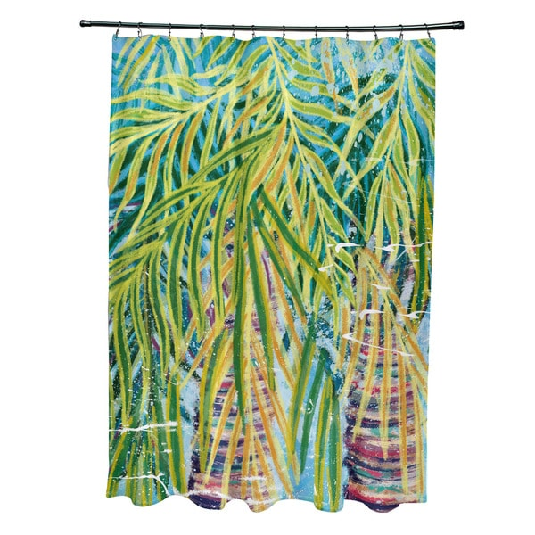 71 x 74-inch Malibu Floral Print Shower Curtain