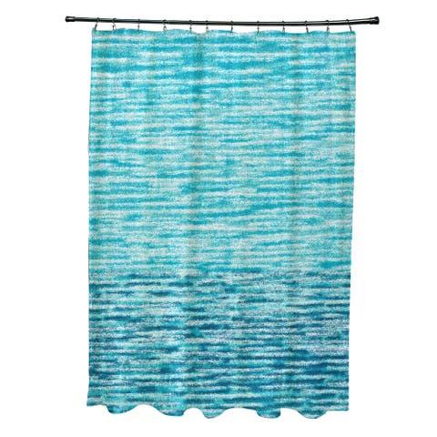 71 x 74-inch Ocean View Geometric Print Shower Curtain