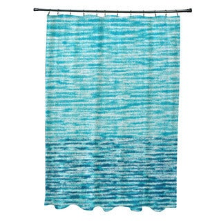 71 x 74-inch Ocean View Geometric Print Shower Curtain