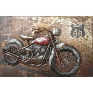 Benjamin Parker 'Ride the Route' 16 x 24-inch Metal Wall Art