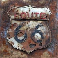 Benjamin Parker 'Route 66' Metal Wall Art