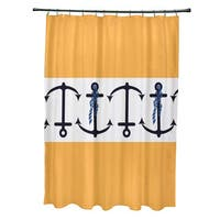 71 x 74-inch Anchor Stripe Stripe Print Shower Curtain