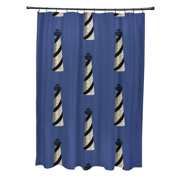 71 x 74-inch Beacon Geometric Print Shower Curtain