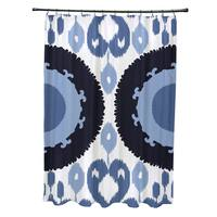 71 x 74-inch Boho Geometric Print Shower Curtain