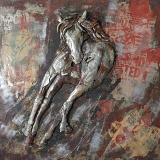 Benjamin Parker 'Percheron' 48-inch Metal Wall Art