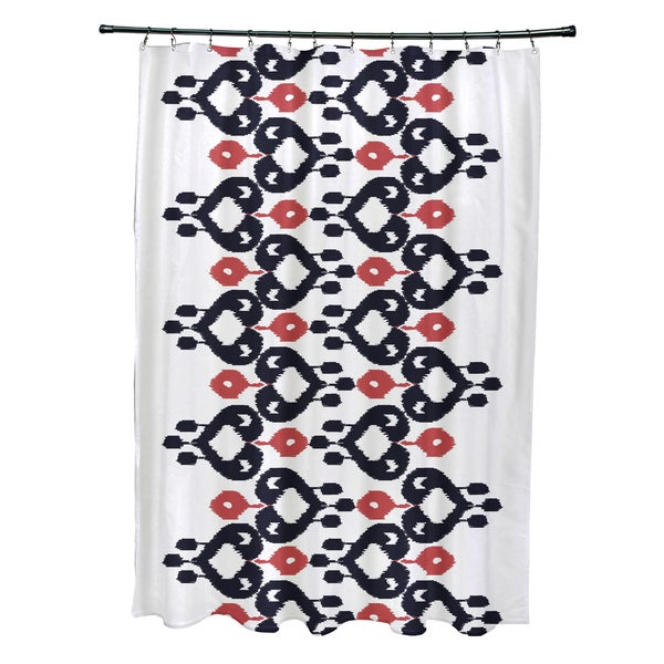 71 x 74-inch Boho Chic Geometric Print Shower Curtain