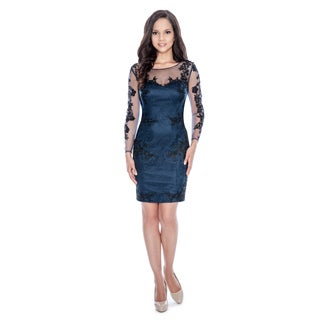 Decode 1.8 Women's Floral Long-sleeve Cocktail Dress