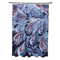 71 x 74-inch Boho Splash Geometric Print Shower Curtain