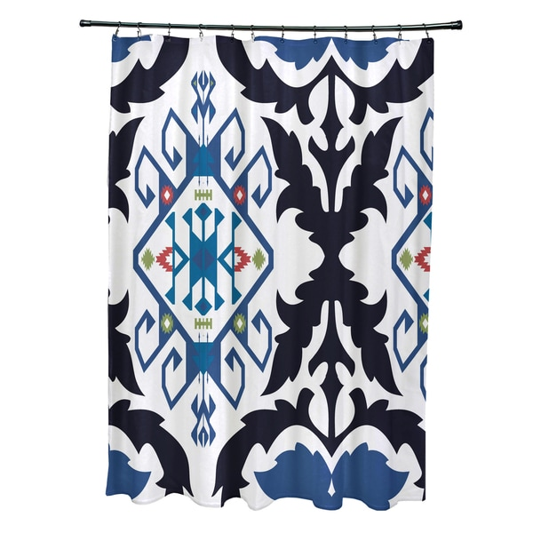 71 X 74 Inch Bombay Medallion Geometric Print Shower Curtain