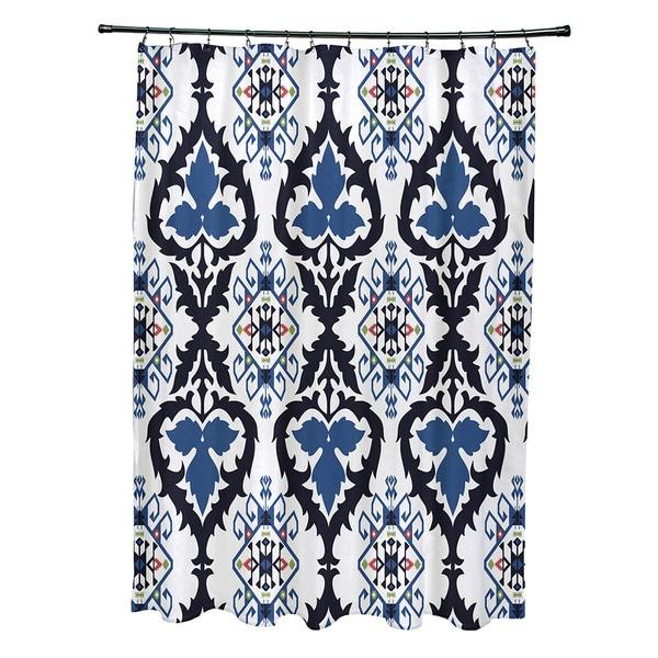 71 x 74-inch Bombay Geometric Print Shower Curtain