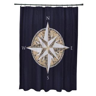 71 x 74-inch Compass Geometric Print Shower Curtain