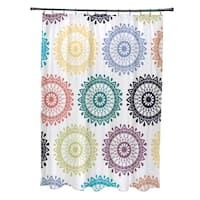 71 x 74-inch Groovy Geometric Print Shower Curtain