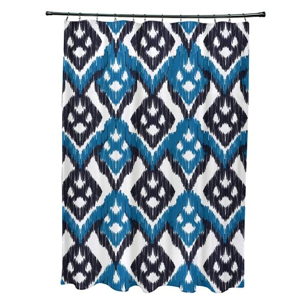 71 x 74-inch Hipster Geometric Print Shower Curtain