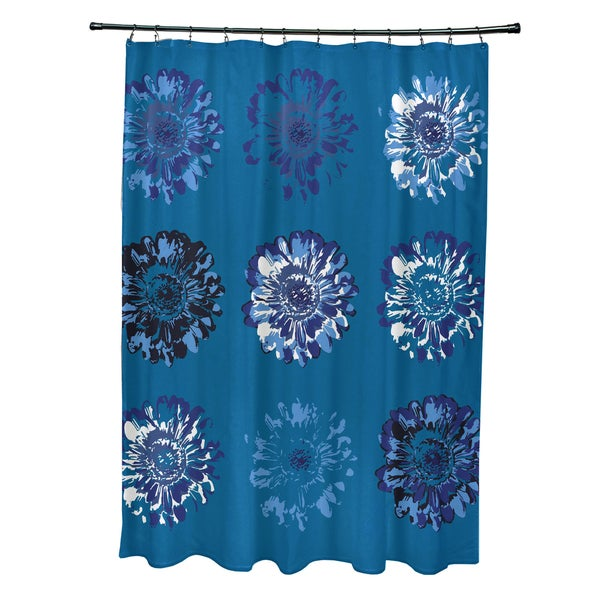 71 x 74-inch Gypsy Floral 2 Floral Print Shower Curtain