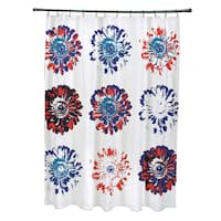 71 x 74-inch Gypsy Floral Floral Print Shower Curtain