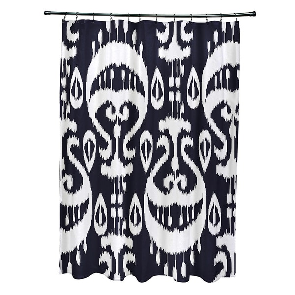 71 x 74-inch Ikat Geometric Print Shower Curtain