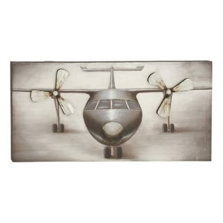 Canvas 28.5-inch x 5.5-inch x 56-inch Airplane Wall Art|https://ak1.ostkcdn.com/images/products/11916422/P18807747.jpg?impolicy=medium