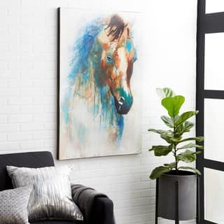 Horse 48.03-inch x 3.94-inch x 32.48-inch Canvas Art Print|https://ak1.ostkcdn.com/images/products/11916423/P18807748.jpg?impolicy=medium