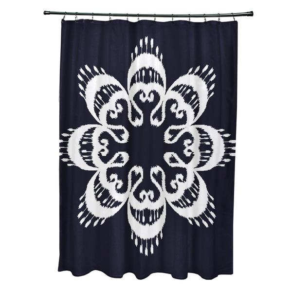 71 x 74-inch Ikat Mandala Geometric Print Shower Curtain