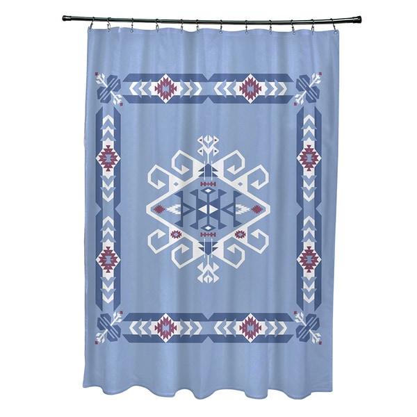 71 x 74-inch Jodhpur Border 3 Geometric Print Shower Curtain