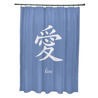 71 x 74-inch Love Word Print Shower Curtain