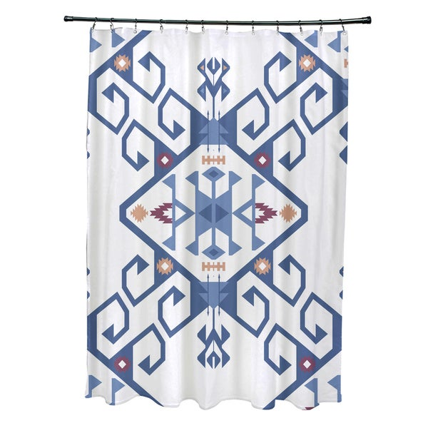71 x 74-inch Jodhpur Medallion 2 Geometric Print Shower Curtain