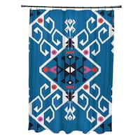 71 x 74-inch Jodhpur Medallion Geometric Print Shower Curtain