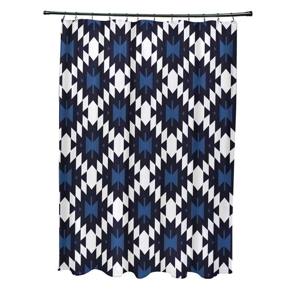 71 x 74-inch Jodhpur Kilim Geometric Print Shower Curtain