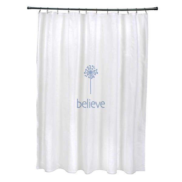 71 x 74-inch Make a Wish Word Print Shower Curtain