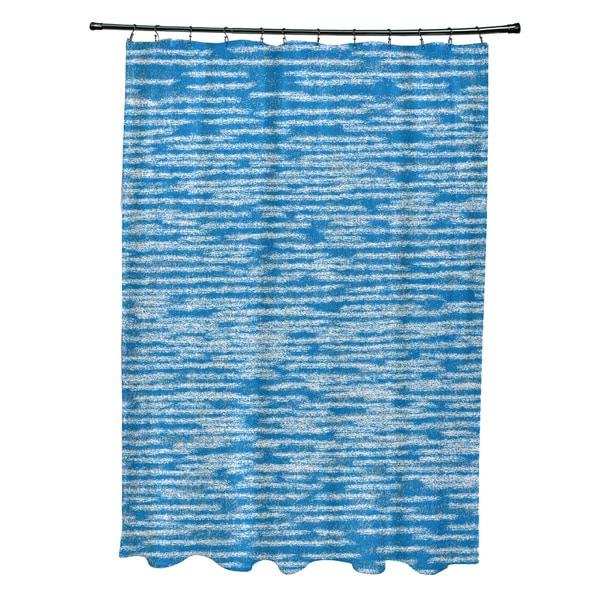 71 x 74-inch Marled Knit Geometric Print Shower Curtain