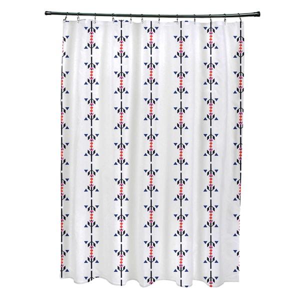 71 x 74-inch Jodhpur Stripe Stripe Print Shower Curtain