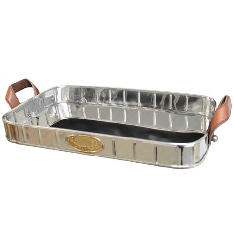 Urban Designs Stainless Steel Vintage Decorative Tray