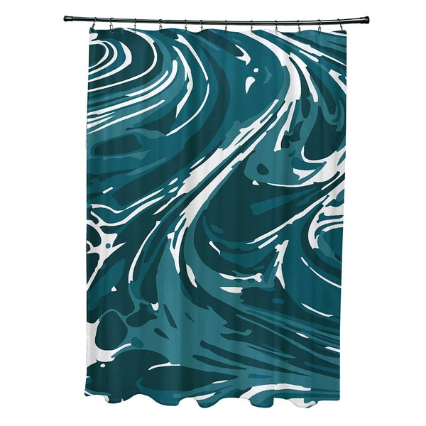 71 x 74-inch Marble Geometric Print Shower Curtain